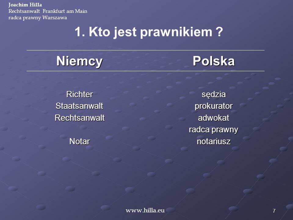 1. Kto jest prawnikiem Niemcy Polska