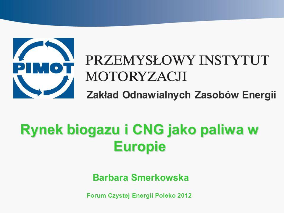 Rynek biogazu i CNG jako paliwa w Europie