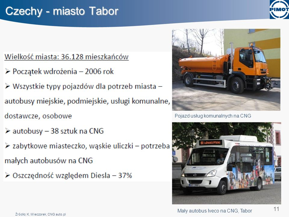 Czechy - miasto Tabor 11 Pojazd usług komunalnych na CNG
