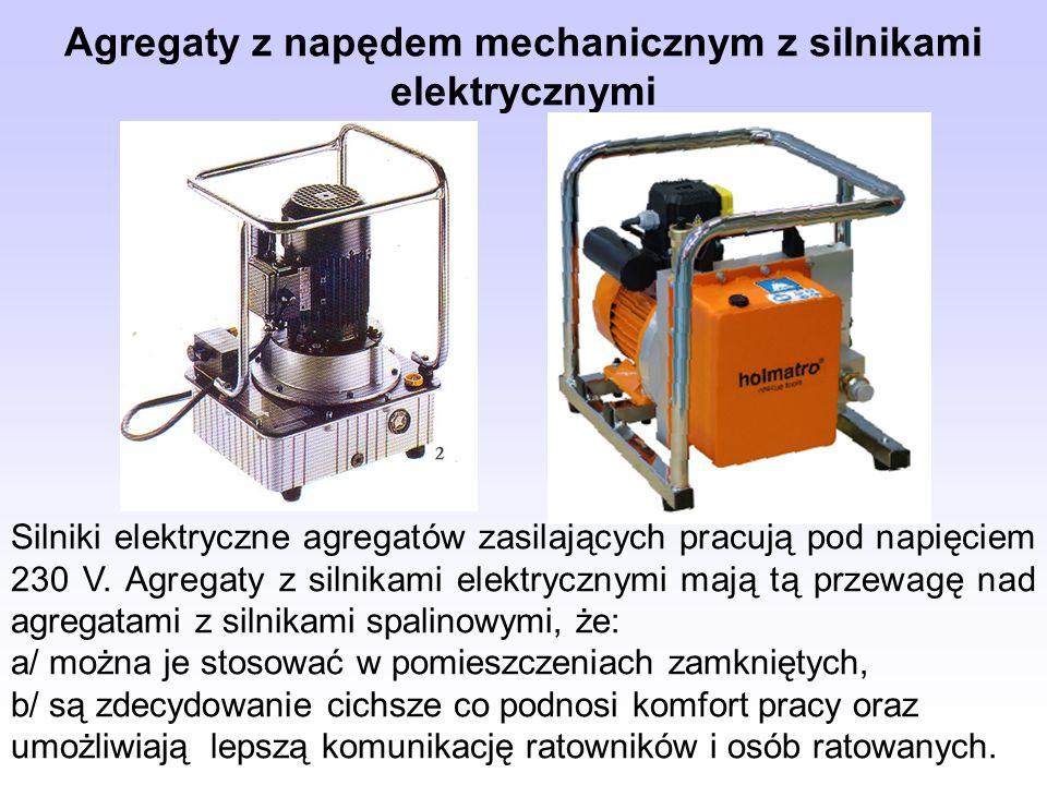 Agregaty z napędem mechanicznym z silnikami elektrycznymi