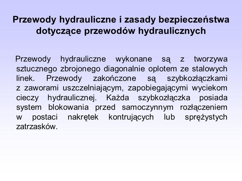 Przewody hydrauliczne i zasady bezpieczeństwa dotyczące przewodów hydraulicznych