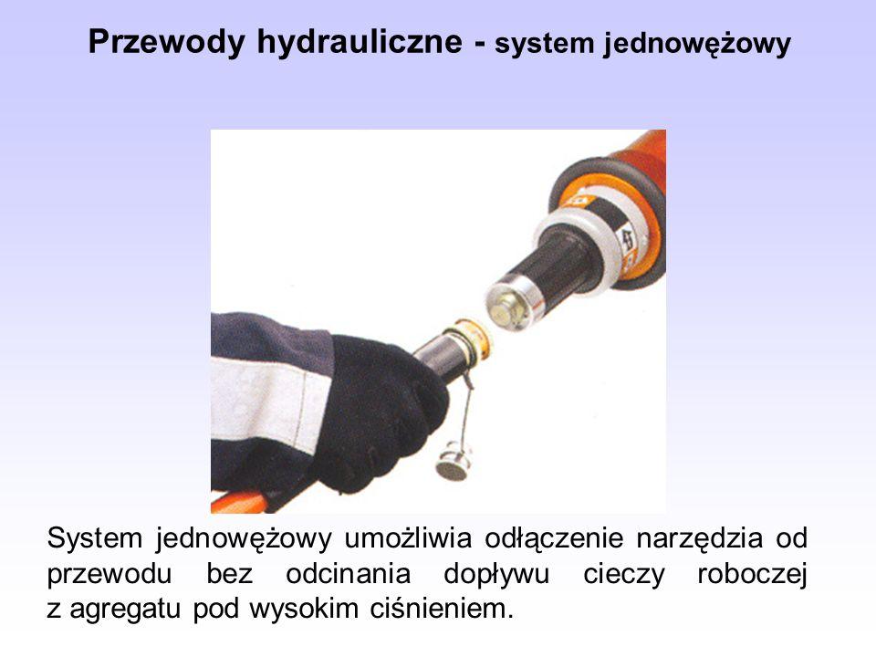 Przewody hydrauliczne - system jednowężowy
