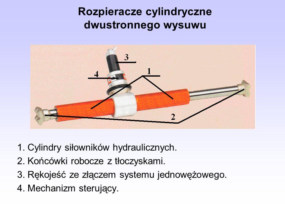 Rozpieracze cylindryczne dwustronnego wysuwu