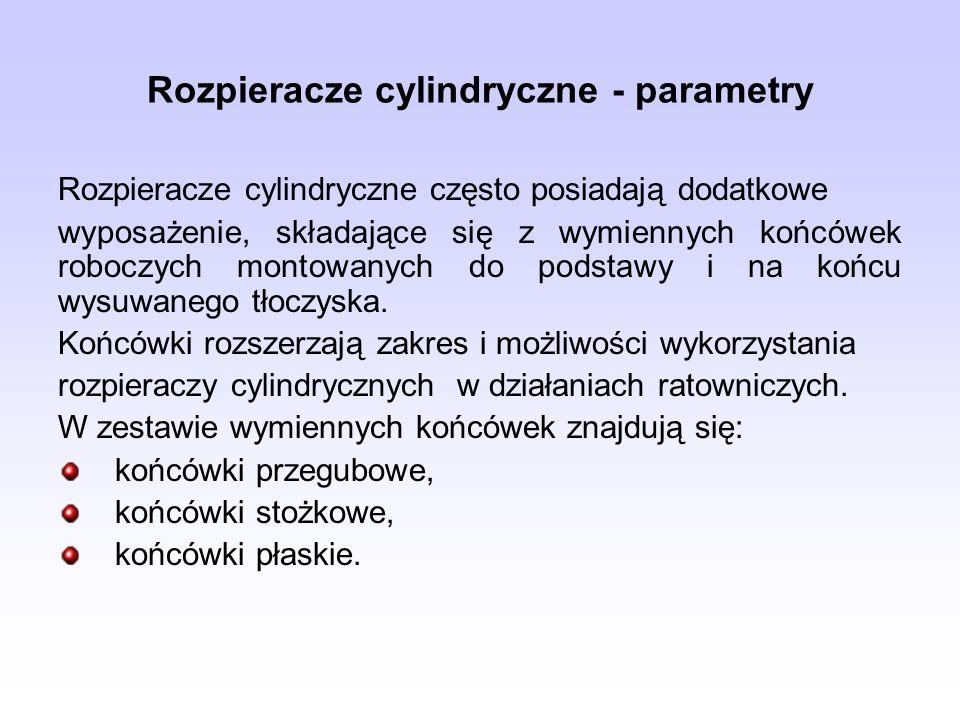 Rozpieracze cylindryczne - parametry