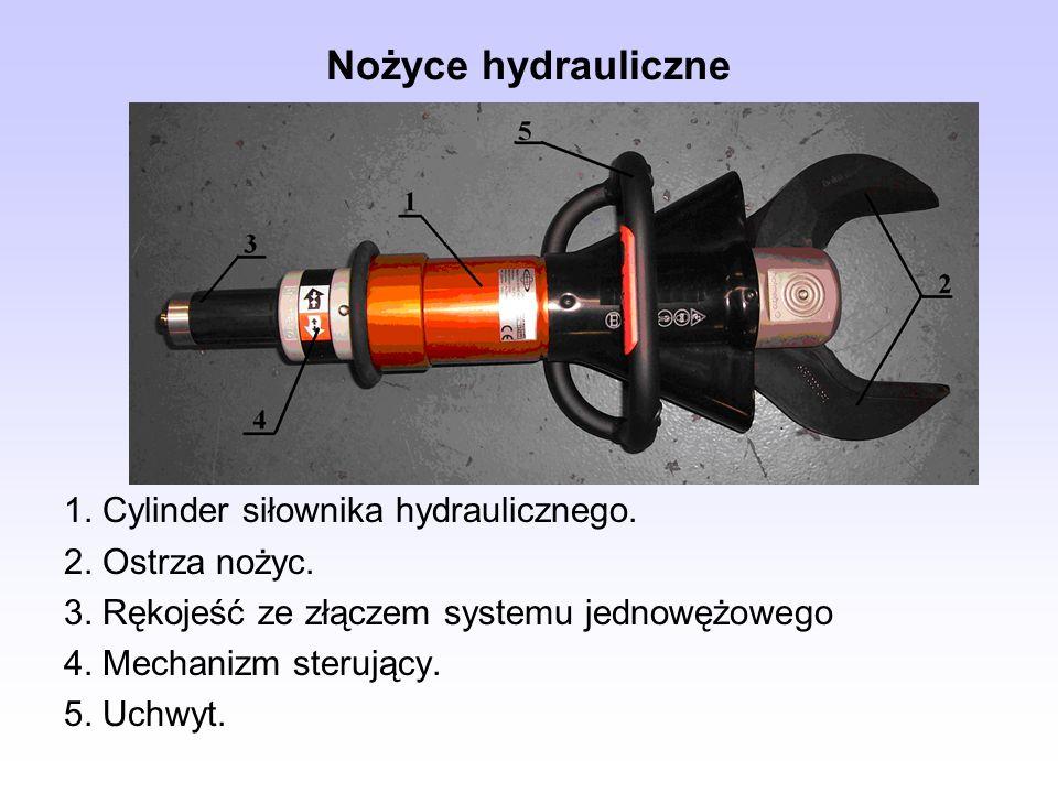 Nożyce hydrauliczne 1. Cylinder siłownika hydraulicznego.