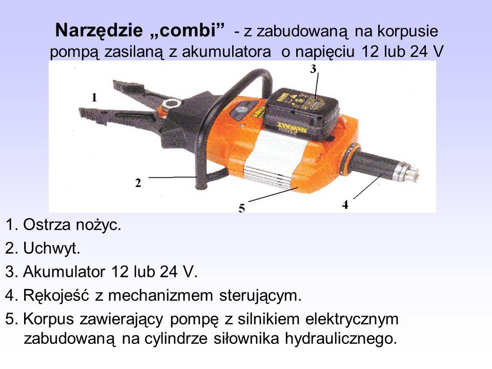"""Narzędzie """"combi - z zabudowaną na korpusie pompą zasilaną z akumulatora o napięciu 12 lub 24 V"""