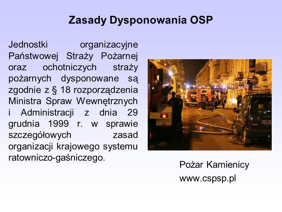 Zasady Dysponowania OSP