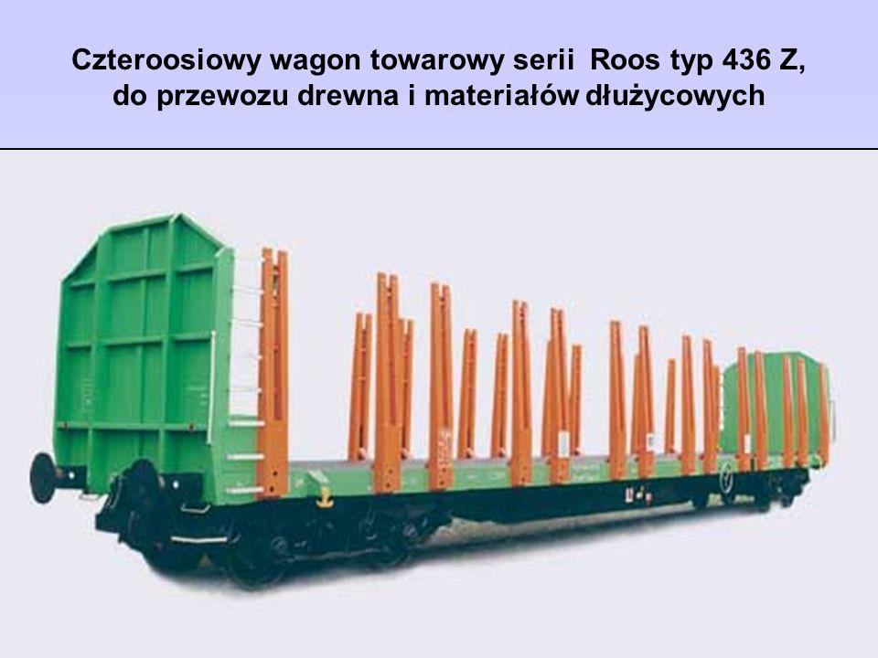 Czteroosiowy wagon towarowy serii Roos typ 436 Z, do przewozu drewna i materiałów dłużycowych