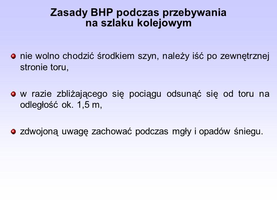 Zasady BHP podczas przebywania na szlaku kolejowym