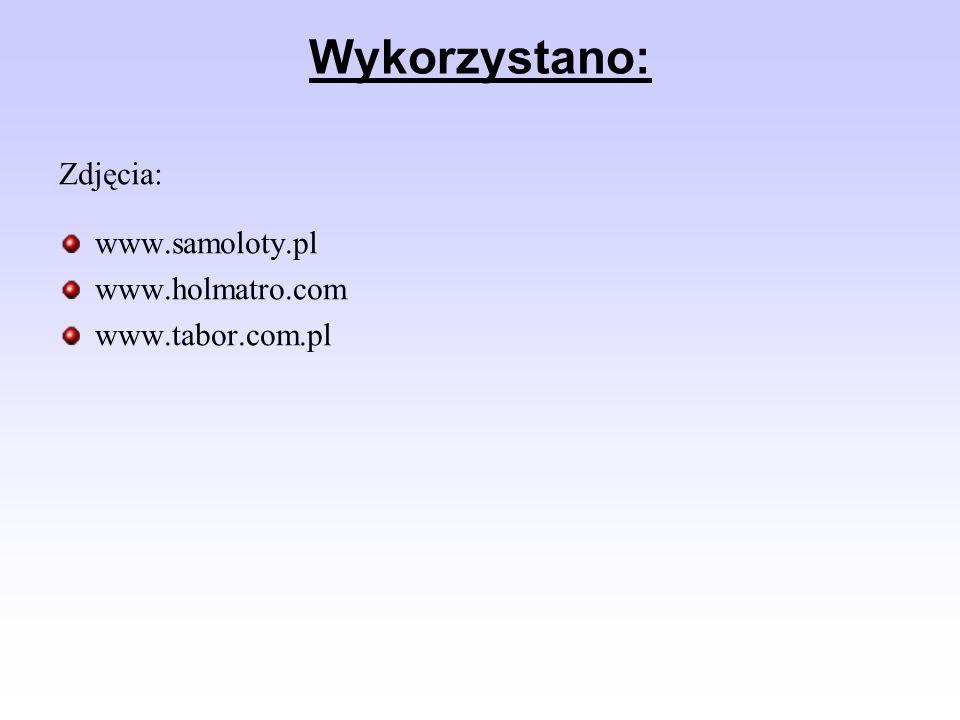 Wykorzystano: Zdjęcia: www.samoloty.pl www.holmatro.com