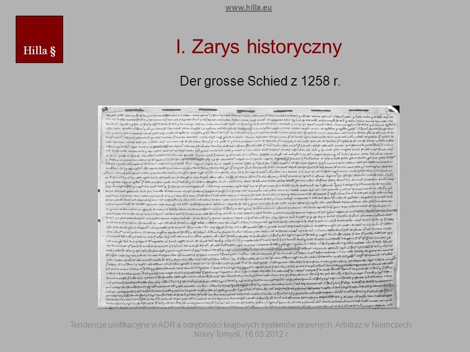 I. Zarys historyczny Der grosse Schied z 1258 r. Hilla § www.hilla.eu