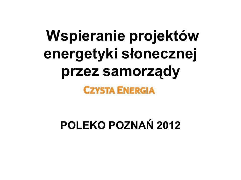 Wspieranie projektów energetyki słonecznej przez samorządy