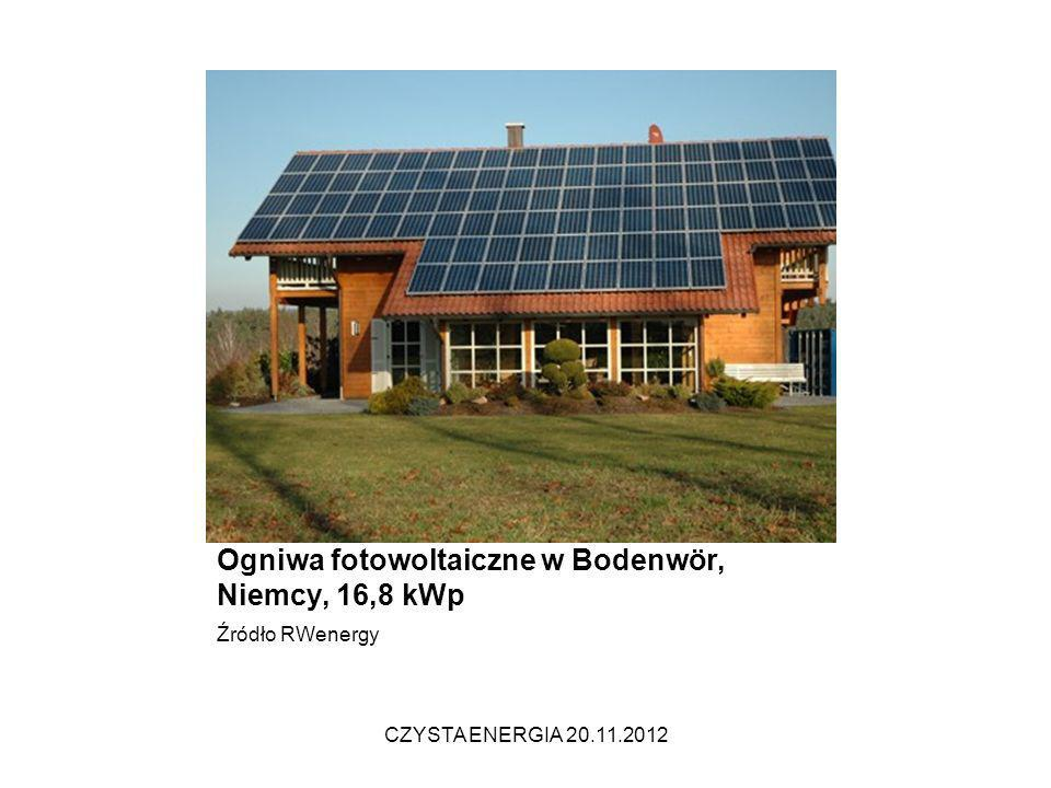 Ogniwa fotowoltaiczne w Bodenwör, Niemcy, 16,8 kWp