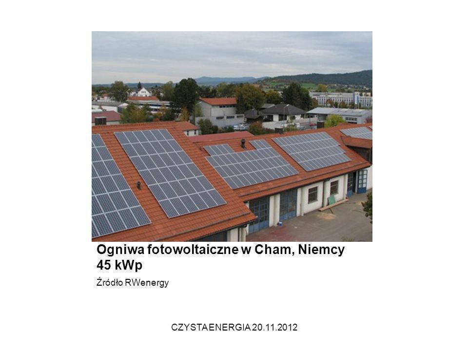 Ogniwa fotowoltaiczne w Cham, Niemcy 45 kWp