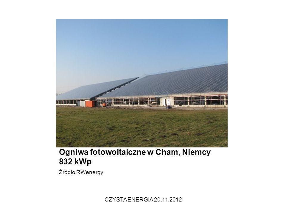 Projekt s:top 832 Chammünster Fertigstellung: Dezember 2009 Ogniwa fotowoltaiczne w Cham, Niemcy 832 kWp