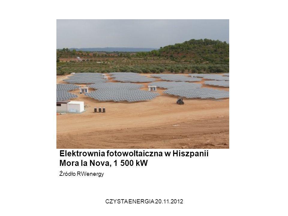 Elektrownia fotowoltaiczna w Hiszpanii Mora la Nova, 1 500 kW