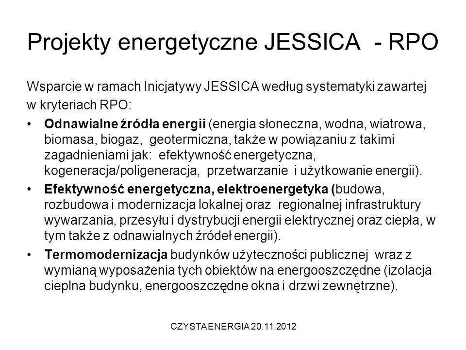 Projekty energetyczne JESSICA - RPO