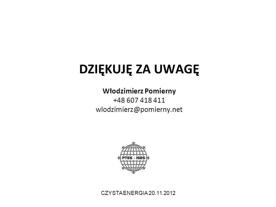 DZIĘKUJĘ ZA UWAGĘ Włodzimierz Pomierny +48 607 418 411 wlodzimierz@pomierny.net