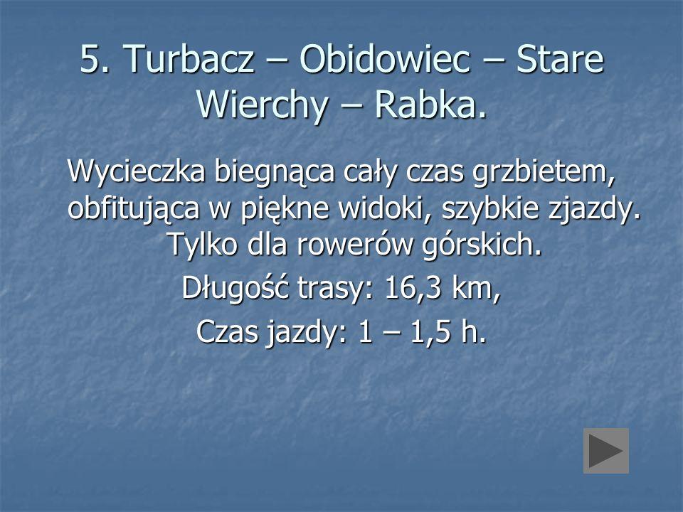 5. Turbacz – Obidowiec – Stare Wierchy – Rabka.