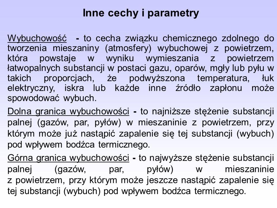 Inne cechy i parametry