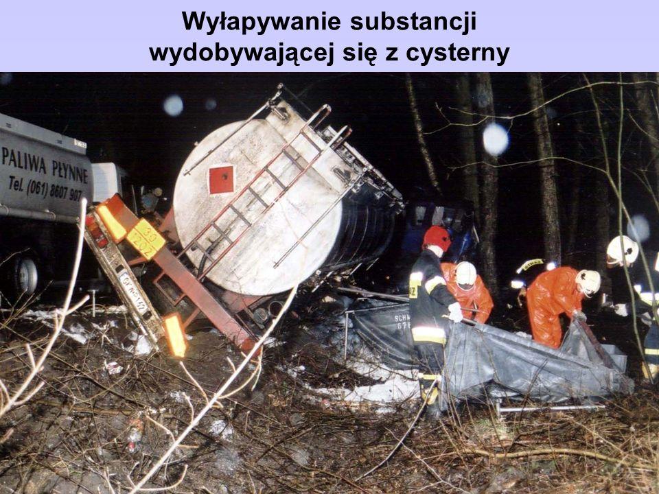 Wyłapywanie substancji wydobywającej się z cysterny