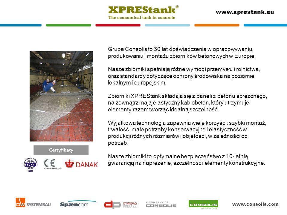 Grupa Consolis to 30 lat doświadczenia w opracowywaniu, produkowaniu i montażu zbiorników betonowych w Europie.