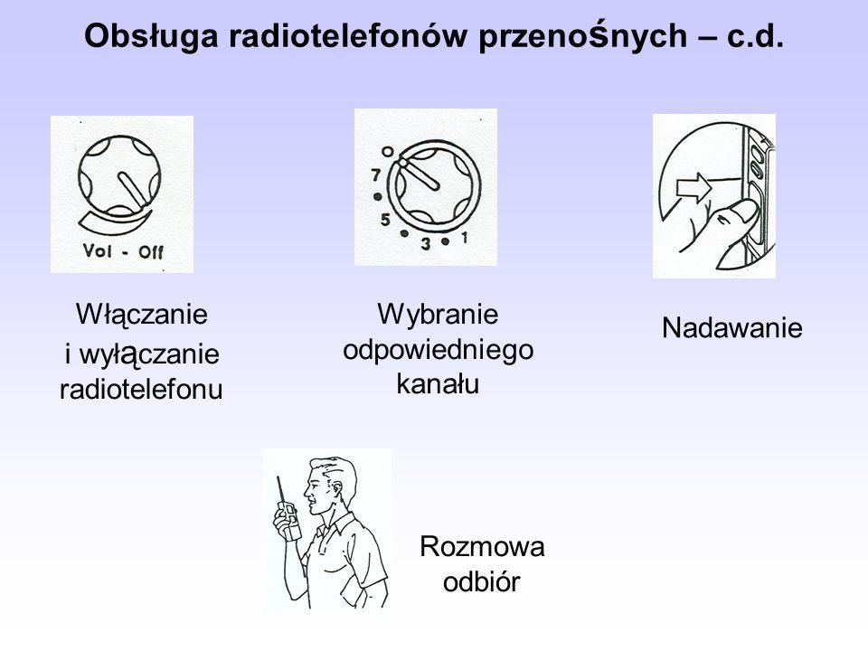 Obsługa radiotelefonów przenośnych – c.d.
