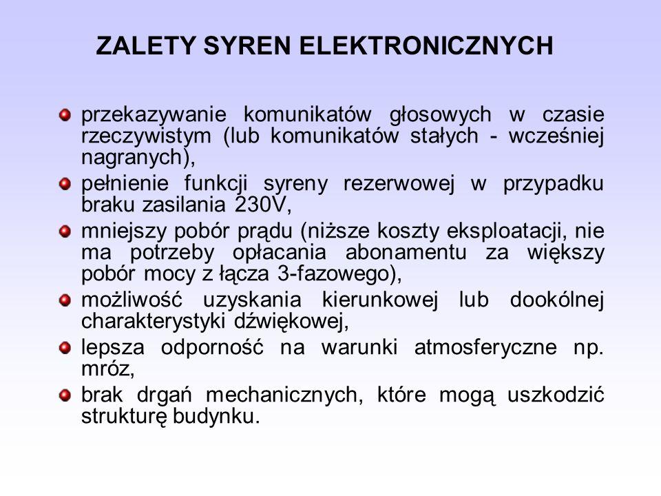 ZALETY SYREN ELEKTRONICZNYCH
