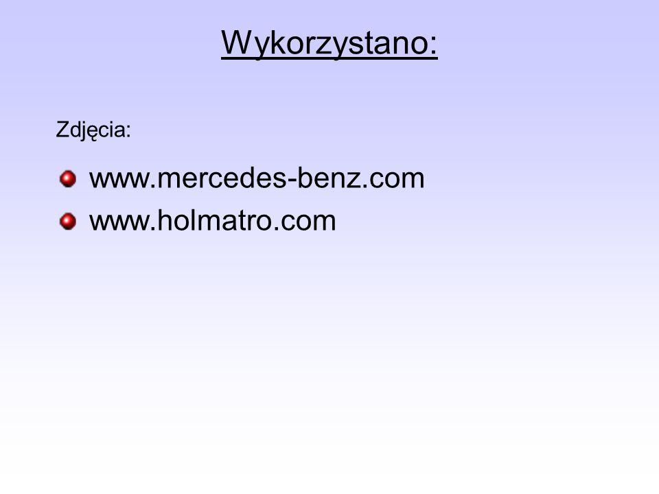 Wykorzystano: Zdjęcia: www.mercedes-benz.com www.holmatro.com
