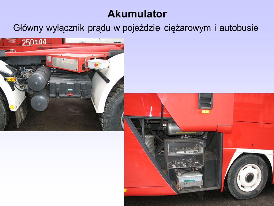 Akumulator Główny wyłącznik prądu w pojeździe ciężarowym i autobusie