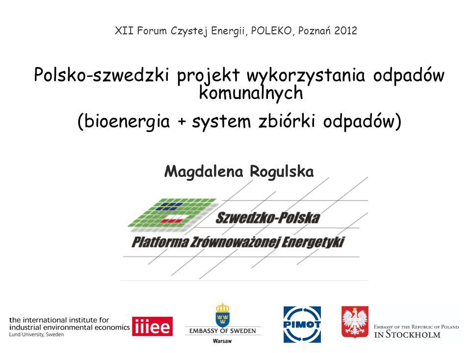 Polsko-szwedzki projekt wykorzystania odpadów komunalnych