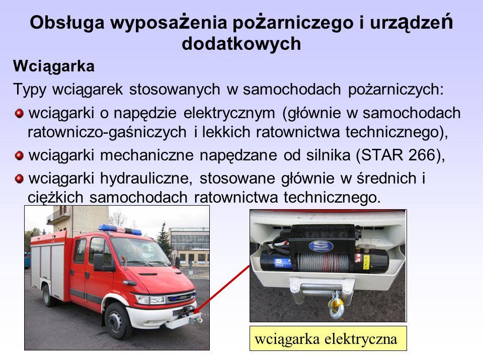 Obsługa wyposażenia pożarniczego i urządzeń dodatkowych