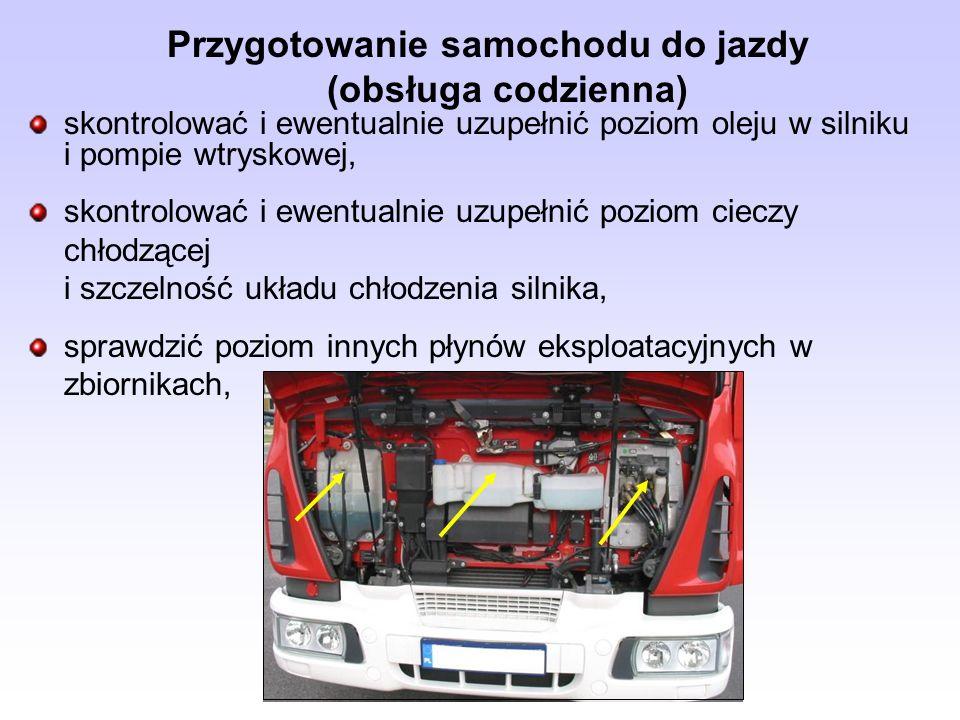 Przygotowanie samochodu do jazdy (obsługa codzienna)