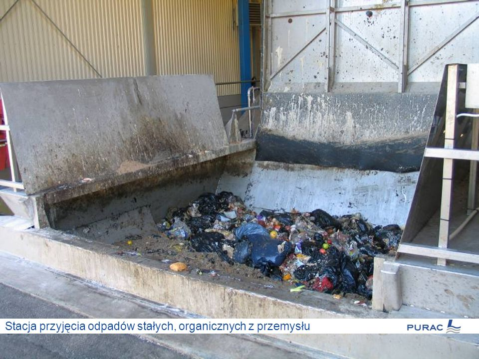 Stacja przyjęcia odpadów stałych, organicznych z przemysłu