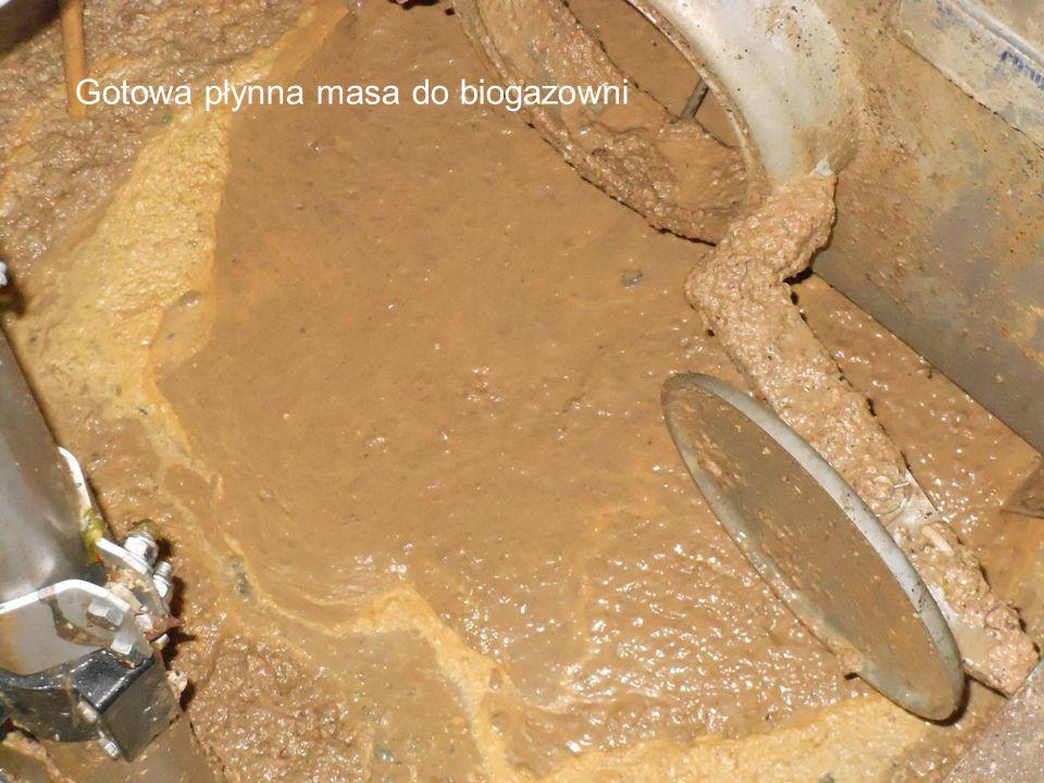 Gotowa płynna masa do biogazowni