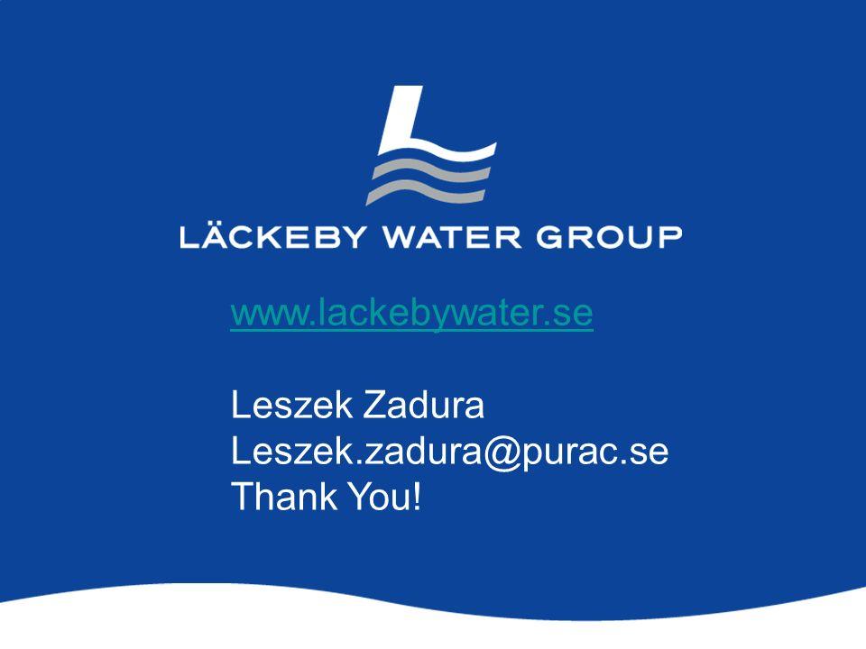 www.lackebywater.se Leszek Zadura Leszek.zadura@purac.se Thank You!