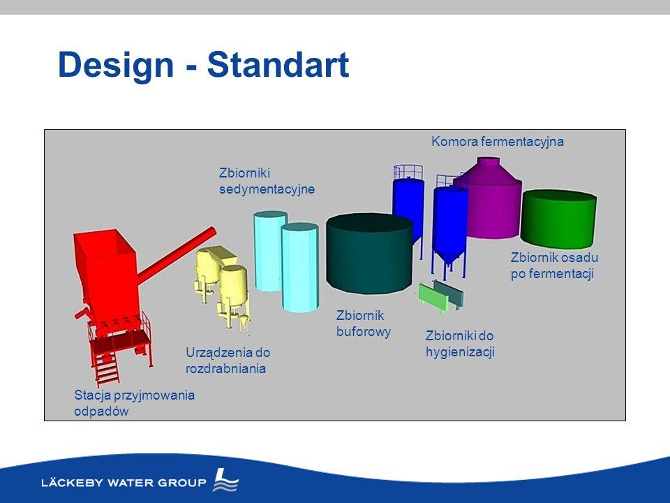 Design - Standart Komora fermentacyjna Zbiorniki sedymentacyjne