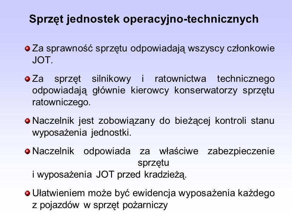 Sprzęt jednostek operacyjno-technicznych