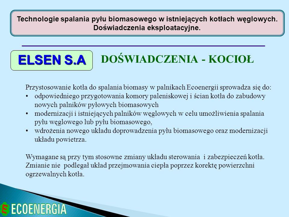 ELSEN S.A DOŚWIADCZENIA - KOCIOŁ