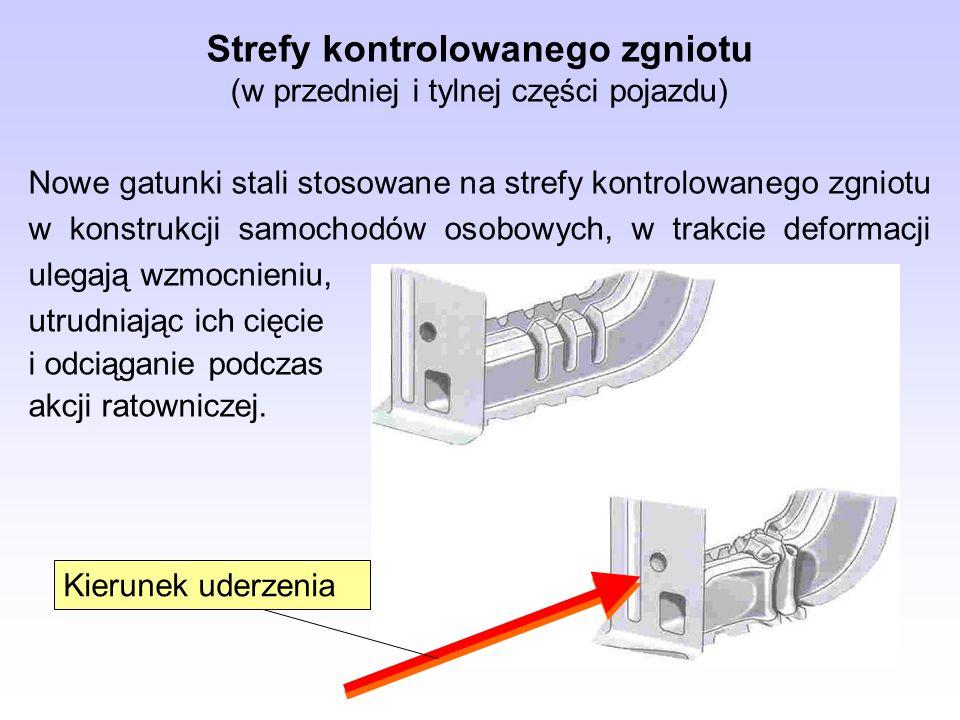 Strefy kontrolowanego zgniotu (w przedniej i tylnej części pojazdu)