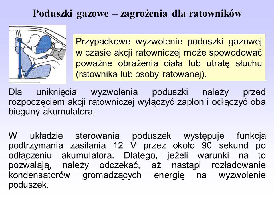 Poduszki gazowe – zagrożenia dla ratowników
