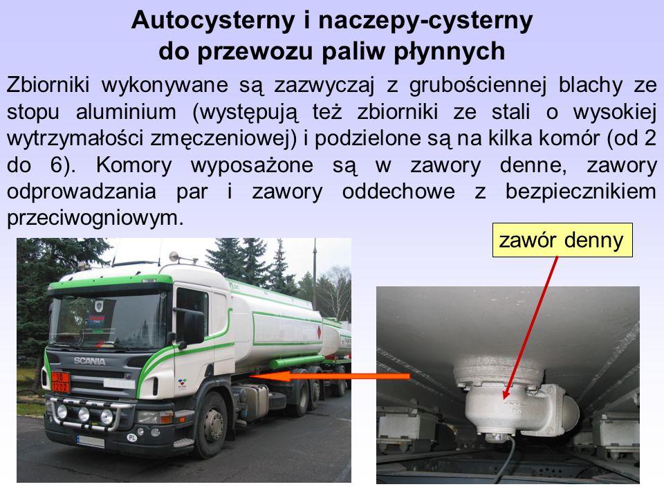 Autocysterny i naczepy-cysterny do przewozu paliw płynnych