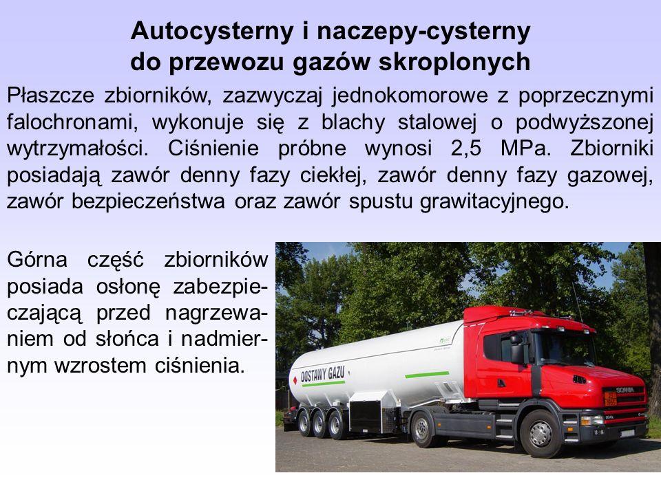Autocysterny i naczepy-cysterny do przewozu gazów skroplonych