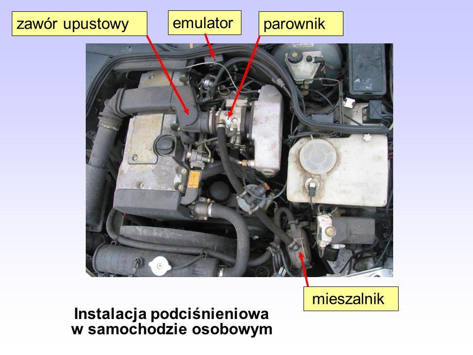 Instalacja podciśnieniowa w samochodzie osobowym