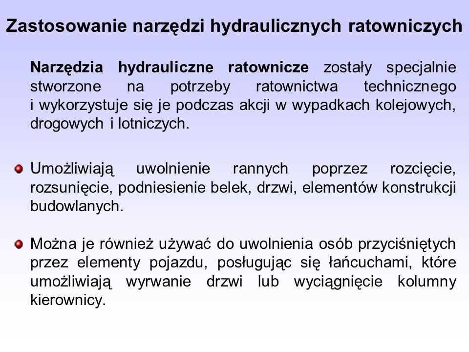 Zastosowanie narzędzi hydraulicznych ratowniczych