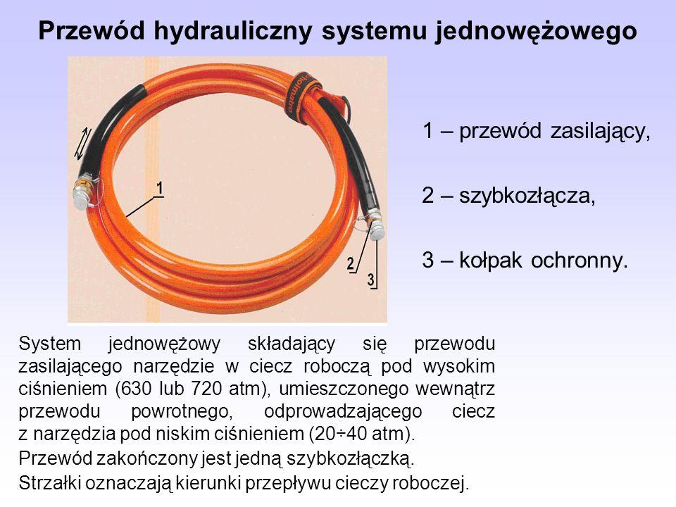 Przewód hydrauliczny systemu jednowężowego
