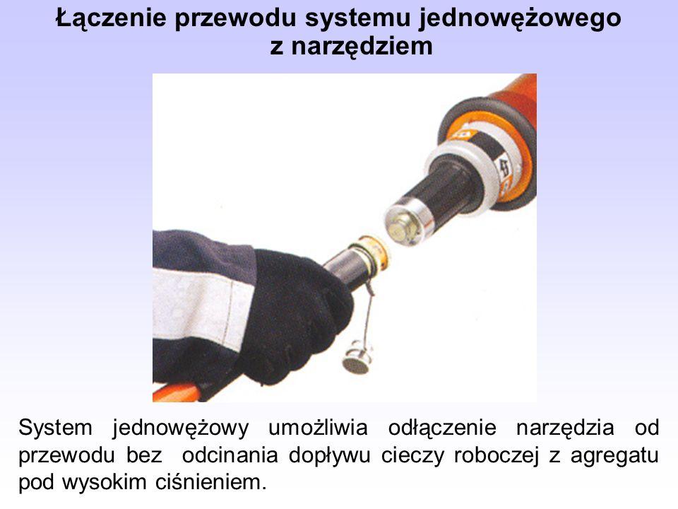 Łączenie przewodu systemu jednowężowego z narzędziem