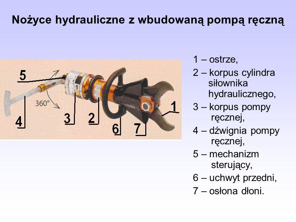 Nożyce hydrauliczne z wbudowaną pompą ręczną