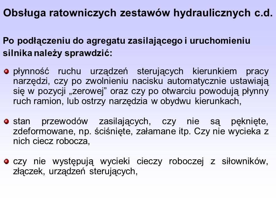 Obsługa ratowniczych zestawów hydraulicznych c.d.