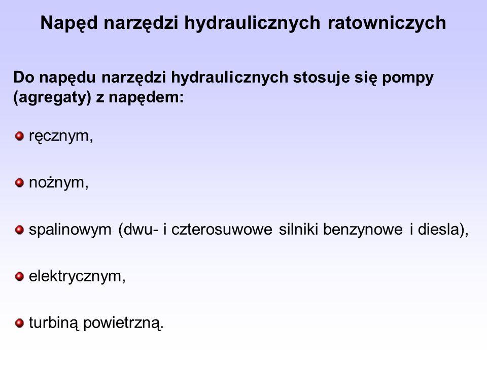 Napęd narzędzi hydraulicznych ratowniczych